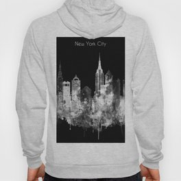 New York City Inverted Watercolor Skyline Hoody