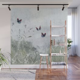 A Spell for Creation - butterflies amongst grass Wall Mural