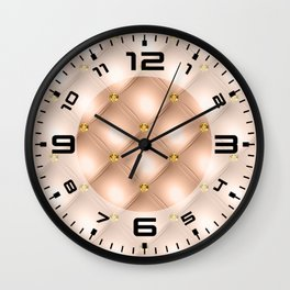 Luxury Tufted Gold Diamond 6 Wall Clock
