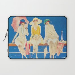 Blackpool, England Vintage Travel Poster Laptop Sleeve