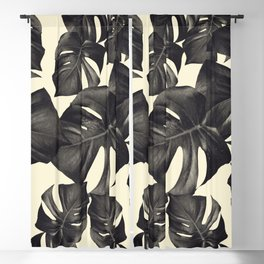 Monstera Leaves Pattern #8 #tropical #decor #art #society6 Blackout Curtain