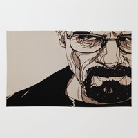 walter white Area & Throw Rugs featuring Walter White by bubbsyforever