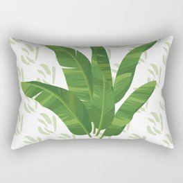 Banana leaves Tropical tree paper Rectangular Pillow