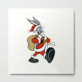 Bugs Bunny with christmas gifts Metal Print