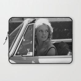 Brigitte Bardot in Barcelona black and white photography / photographs Laptop Sleeve