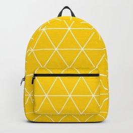 Triangle yellow-white geometric pattern Backpack