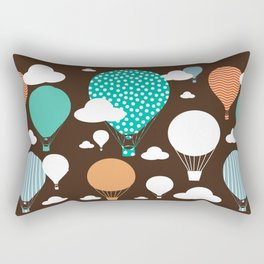 Hot air balloon chocolate Rectangular Pillow