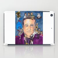 robin williams iPad Cases featuring Robin Williams  by Aviva Bubis Art and Stuff