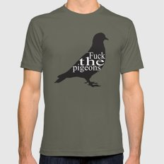 """""""F*CK the pigeons"""" Mens Fitted Tee Lieutenant LARGE"""