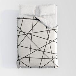 Geometric Lines (black/white) Comforters