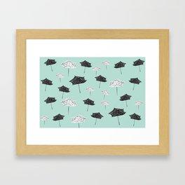 Umbrellas. Framed Art Print