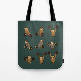 OLYMPIC LIFTING SLOTHS Tote Bag