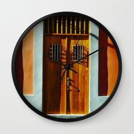 puerto rico house Wall Clock