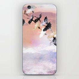 Japanese cranes iPhone Skin