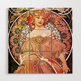 Alphonse Mucha Daydream Floral Vintage Art Nouveau Wood Wall Art