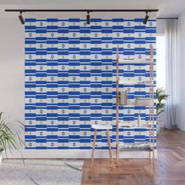 Mix of flag : Israel and Argentina Wall Mural