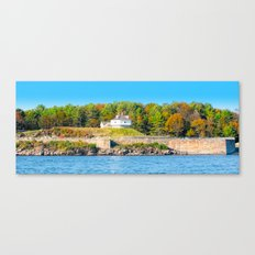 Excerpt from a Lovely Day at Portsmouth Harbor Canvas Print