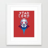 starlord Framed Art Prints featuring Who? Starlord by Fenomeno
