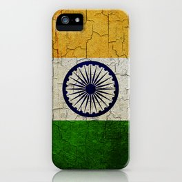 Cracked India flag iPhone Case