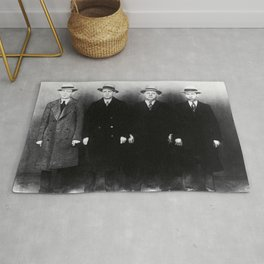 The Syndicate - 'Lucky' Luciano & New York gangsters Ed Diamond, Jack Diamond, & Fatty Walsh black and white photography / photographs Rug