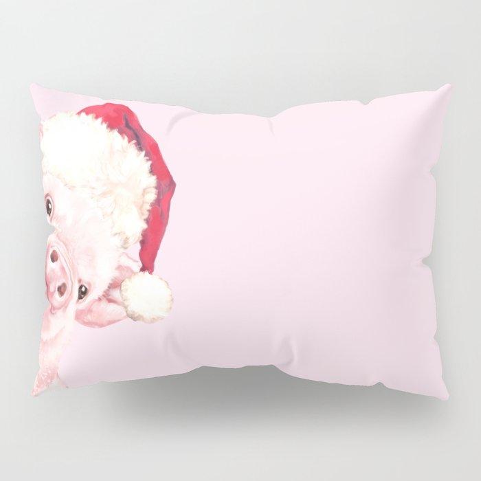 Sneaky Santa Baby Pig Pillow Sham