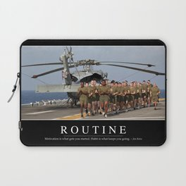 Routine: Inspirational Quote and Motivational Poster Laptop Sleeve