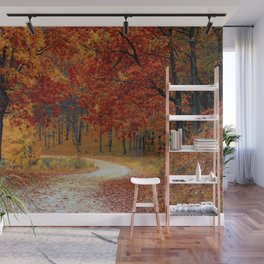 Red Autumn Wall Mural