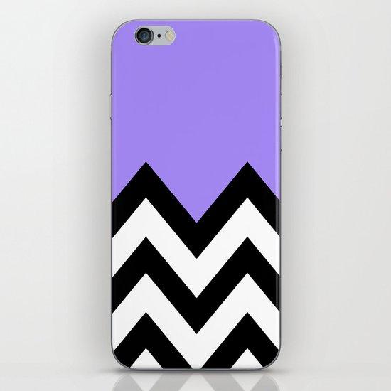 PURPLE COLORBLOCK CHEVRON iPhone & iPod Skin
