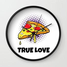 Pizza Love Wall Clock