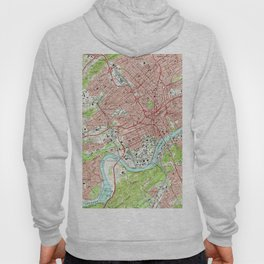 Vintage Map of Knoxville Tennessee (1966) Hoody
