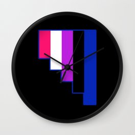 Genderfluid Wall Clock