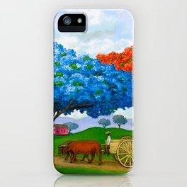 Flamboyán Azul iPhone Case