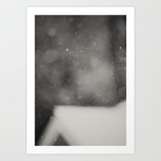 White Christmas Art Print
