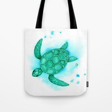 Nursery Style Sea Turtle Tote Bag