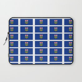 Flag of alberta -albertan,calgary,edmonton,athabasca,wild rose,berta,Louise. Laptop Sleeve