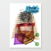 barbie Canvas Prints featuring Barbie by benjamin chaubard