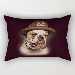 THE DOGFATHER MAFIA BULLDOG Rectangular Pillow