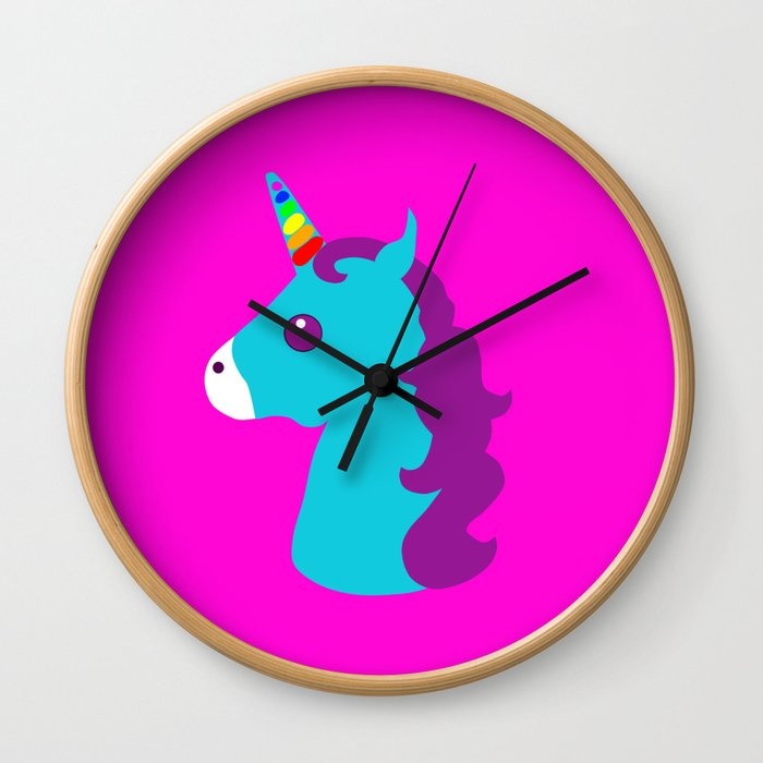 Portrait  of a Unicorn Wall Clock