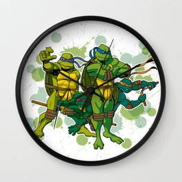 The Turtles Wall Clock