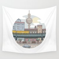 berlin Wall Tapestries featuring Berlin by fabric8