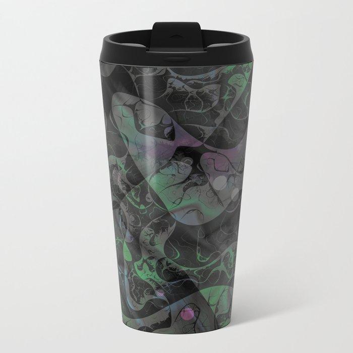 Abstract DM 04 Metal Travel Mug