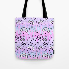 Cute Melting Pastel Chaos Tote Bag