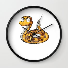 Sanke Nope Rope Funny Fake Animal Sneek  Wall Clock