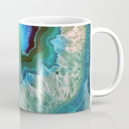 Green Turquoise Quartz Crystal Coffee Mug