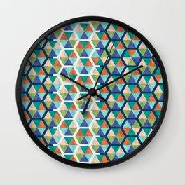 Hexagon Triangles Wall Clock
