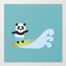 Surf Panda Canvas Print