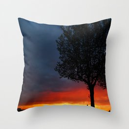 Colours of the night Throw Pillow