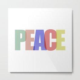 Peace (Color) Metal Print
