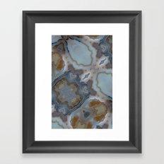 luxury marble Framed Art Print