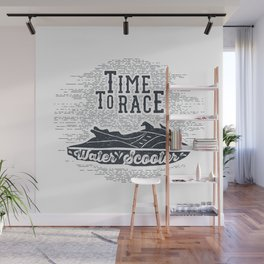 Time To Race. Water Scooter Wall Mural
